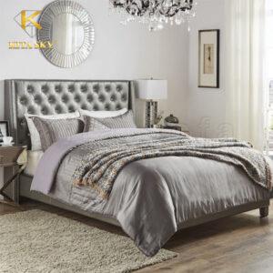 Giường bọc nệm đầu giường đem lại giấc ngủ ngon trọn vẹn