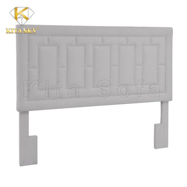 Nệm gắn đầu giường Grey Linen thiết kế tinh tế, đẳng cấp