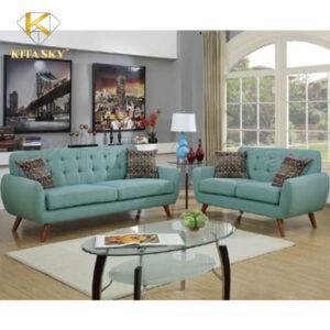 Sofa phòng khách cao cấp Labella với màu sắc tao nhã cùng chất liệu vải nỉ nhập khẩu đem đến sự thanh lịch cho phòng khách