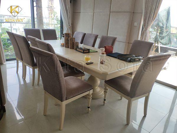 Hình ảnh bọc bàn ghế ăn thực tế sau khi giao tại nhà khách hàng