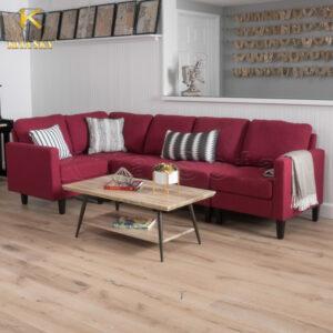Sofa nỉ cho phòng khách nhỏ hiện đại có giá thành mềm hơn sofa da