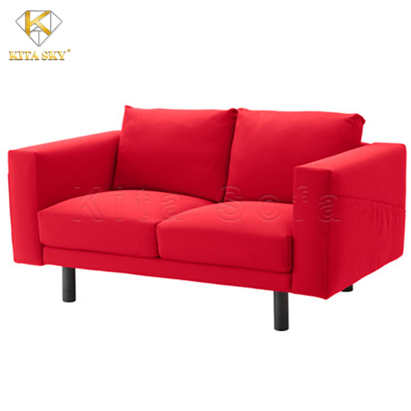 Bộ ghế sofa đẹp cho phòng khách nhỏ với gam màu nổi bậc.