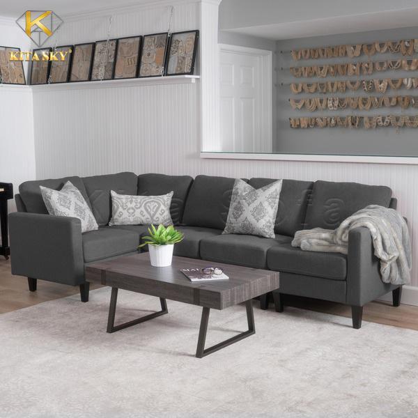 Màu sắc sofa nỉ cho phòng khách hiện đại rất đa dạng.
