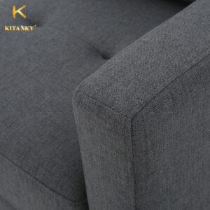 Chất liệu vải nỉ bọc sofa được nhập khẩu từ Hàn Quốc rất êm ái và an toàn cho da