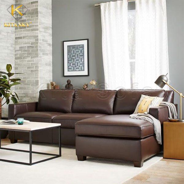 sofa da thật cho phòng khách