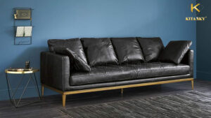 Sofa phòng khách bọc da cao cấp