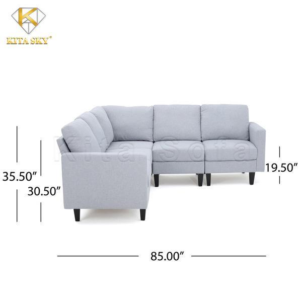 Kích thước sofa nỉ cho phòng khách nhỏ được tính theo inch.