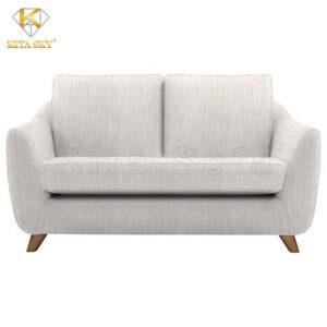 Mẫu ghế sofa mini phòng khách với tông màu trung tính dịu mắt.