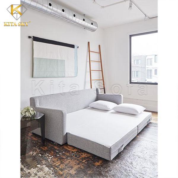 Ghế giường phòng khách màu xám cực đẹp