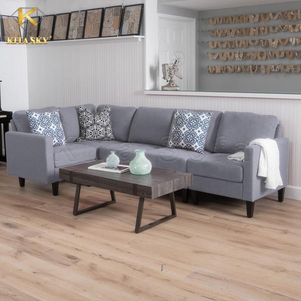 Gia chủ mệnh Kim khá phù hợp với gam màu trắng, bạc hay xám. Thế nên những bộ ghế sofa nỉ màu xám khá thích hợp để trang trí phòng ốc.