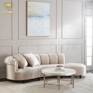 Sofa thư giãn phòng khách bọc vải nhung cao cấp Hàn Quốc
