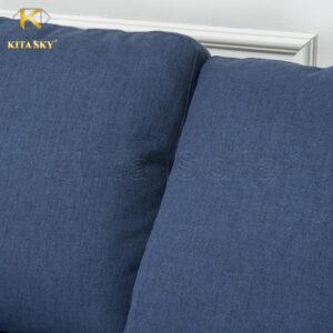 Cận cảnh mẫu ghế sofa phòng khách bọc nỉ Dark Blue Andrea.