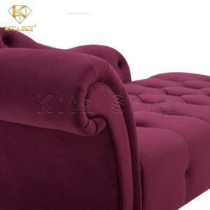 Chất liệu vải nhung Hàn Quốc mềm mịn với độ óng ánh vừa phải. Đem đến sự sang trọng cho các bộ ghế sofa thư giãn phòng khách
