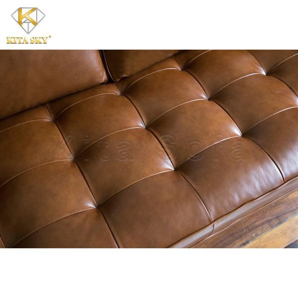 Sofa Da Thật Real Leather vô cùng êm ái, thấm hút tốt