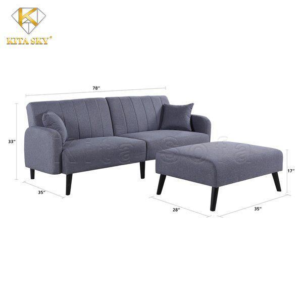 Kích thước sofa phòng khách thông minh (ghế xám nhạt)