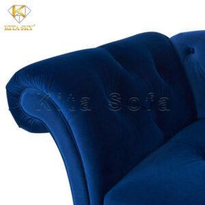 Ghế sofa thư giãn phòng khách vải nhung mịn màu xanh nổi bật