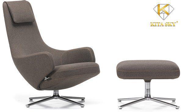 Phòng khách không sofa hãy sử dụng ghế Ottoman Chair