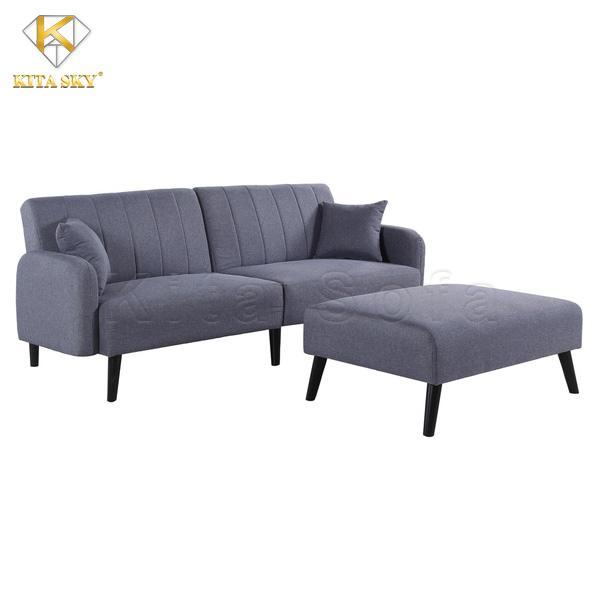 Nội thất phòng khách không thể thiếu đi bộ sofa thông minh màu xám nhẹ nhàng