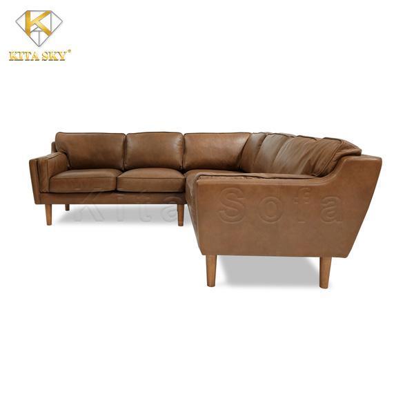 <em>Ghế sofa da phòng khách MAHOGANY</em>