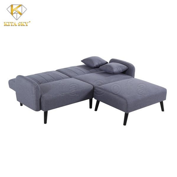 Màu sắc ổn, dễ vệ sinh khiến những mẫu sofa phòng khách thông minh màu xám luôn có số lượng đặt hàng đông hơn hẳn.