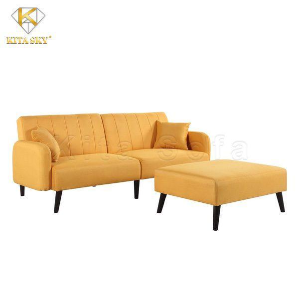 Sofa phòng khách thông minh màu vàng là nét kiến tạo thú vị trong bộ sưu tập của Kita