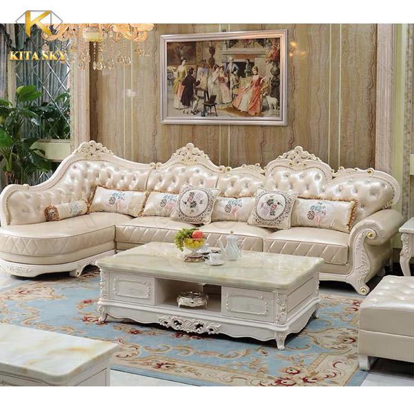 Sofa góc Amber có lối thiết kế mang đẳng cấp hoàng gia