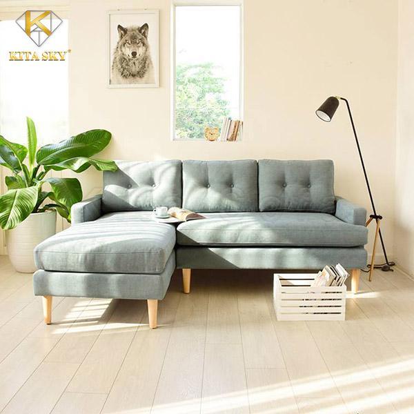 Sofa góc vải Abigal cho không gian thêm sáng tươi