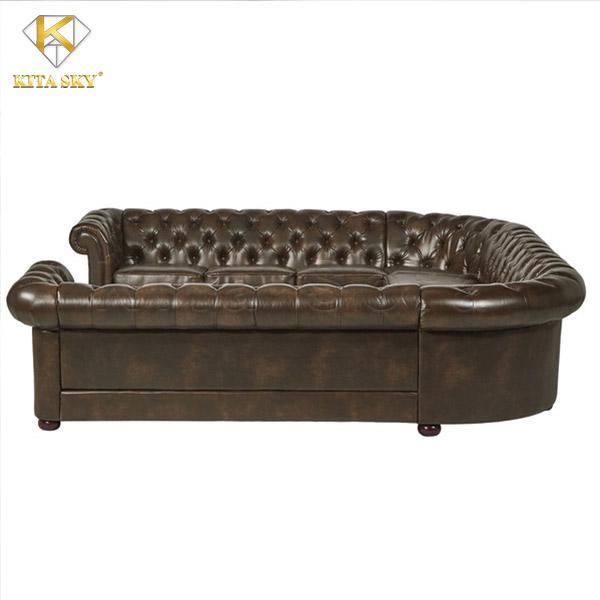 Mẫu sofa góc chữ U đẳng cấp cho không gian phòng khách rộng