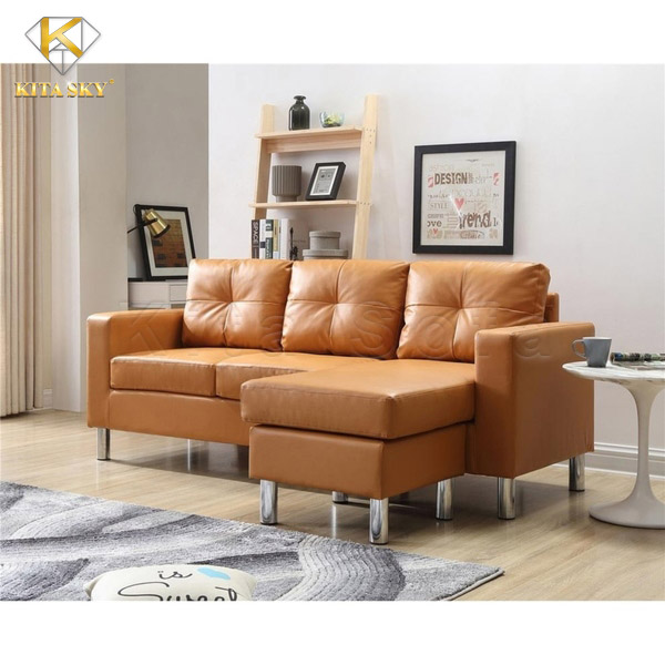 Sofa góc mini Jonesy Corner màu cam tươi sáng