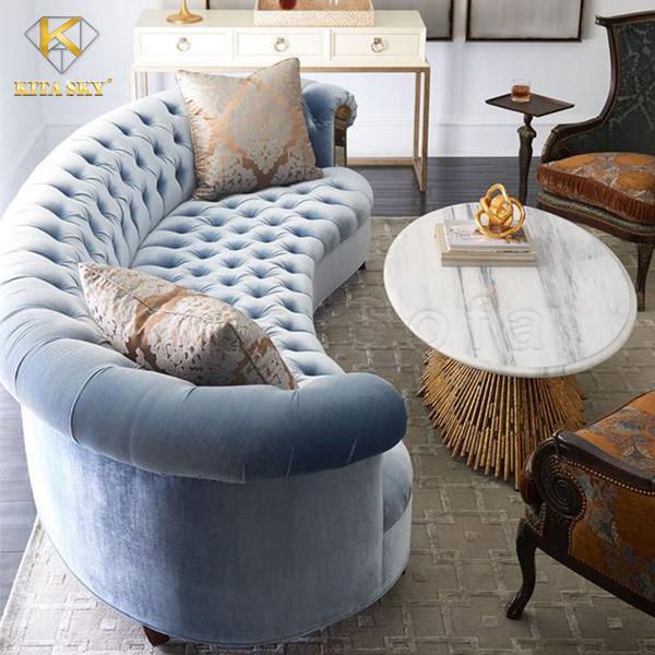 Mẫu ghế sofa vải phòng khách Aberfa đẹp cao cấp cho không gian thêm sang trọng