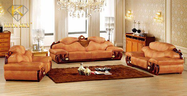 Nên dùng sofa da hay gỗ luôn là thắc mắc của nhiều người. Sử dụng sofa da kết hợp gỗ chính là lựa chọn phù hợp nhất