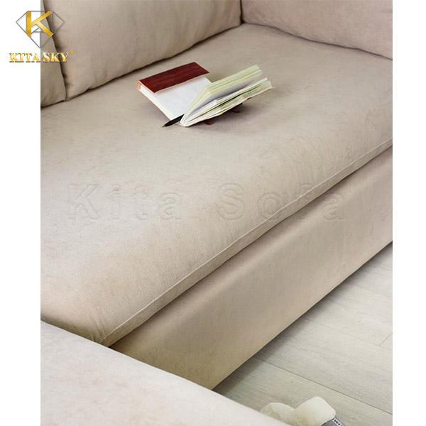 Sofa bọc vải rất tiện nghi, thoải mái khi sử dụng
