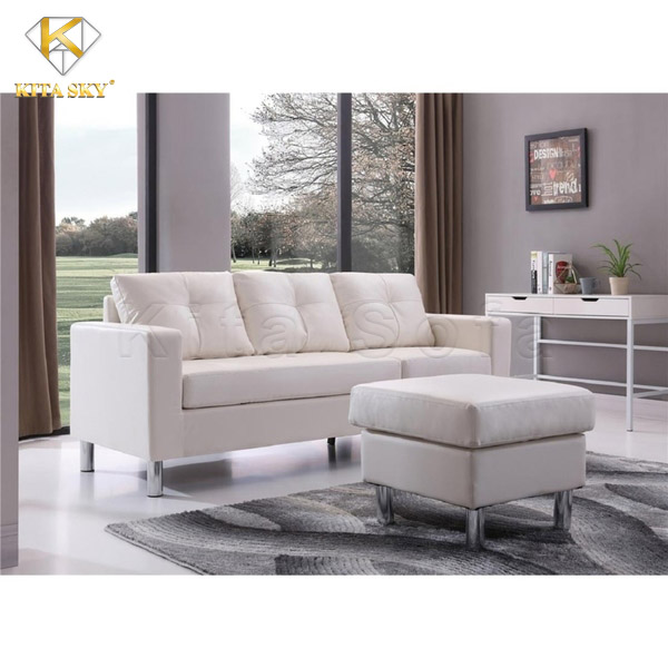 Sofa mini Jonesy Corner màu trắng thanh lịch