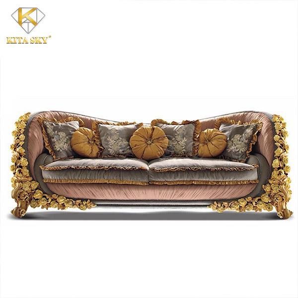 Lux - Mẫu ghế sofa phòng khách tân cổ điển êm ái và mềm mại đến từng đường nét.