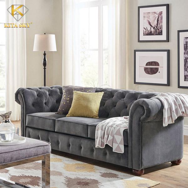 Mẫu ghế sofa vải bố đẹp cho phòng khách, phòng làm việc