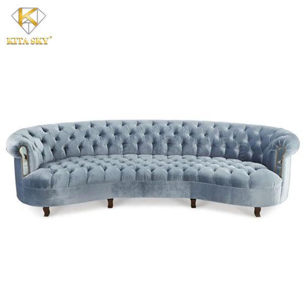 Mẫu ghế sofa vải phòng khách đẹp cao cấp cho không gian thêm sang trọng