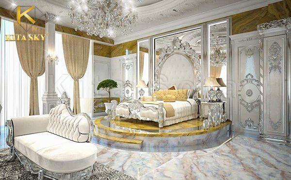 Lối thiết kế này đem lại một không gian nguy nga như cung điện. Đầy đẳng cấp và quý tộc mà ai cũng muốn sở hữu.