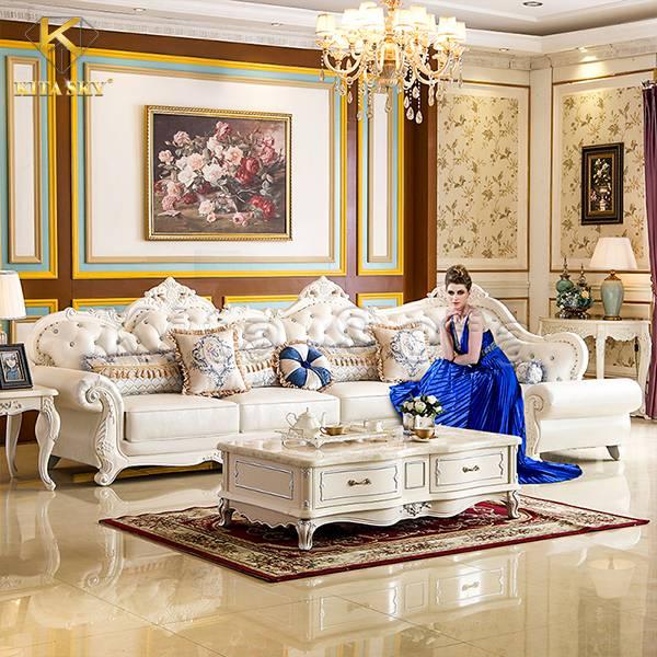 Sofa da cổ điển Claudine – Đẳng cấp hoàng gia hiện diện ngay trong gia đình bạn!