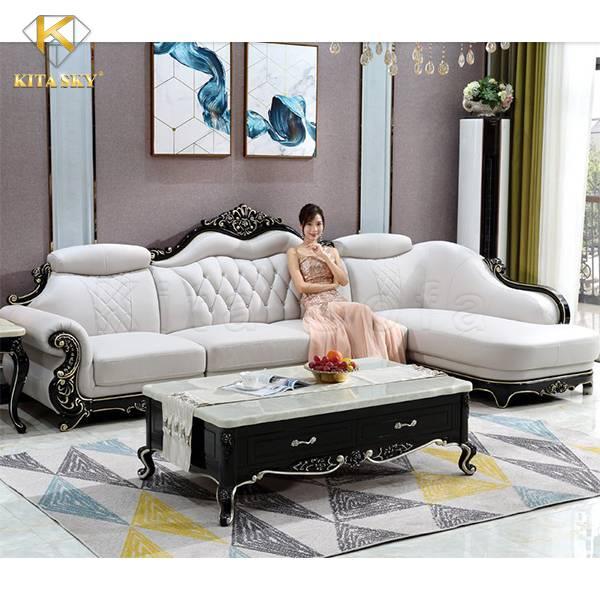 Sofa da góc Lisa trang nhã và ấn tượng