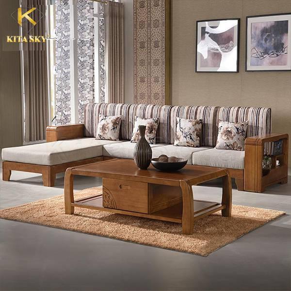 Sofa góc gỗ Poplar – Bộ sofa góc gỗ tự nhiên chất lượng giá rẻ cho gia đình!