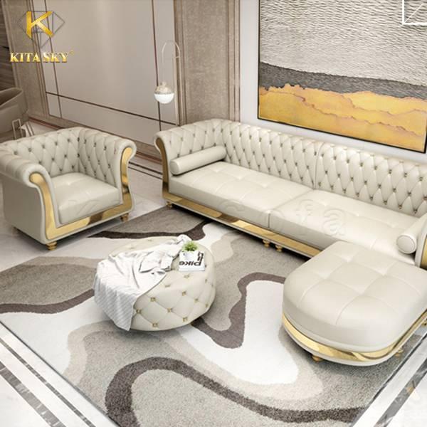 Bàn ghế sofa da Alula – Sofa cao cấp cho phòng khách vừa và nhỏ!
