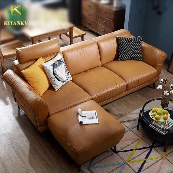 Amar là bộ bàn ghế sofa da bò nhập khẩu cao cấp