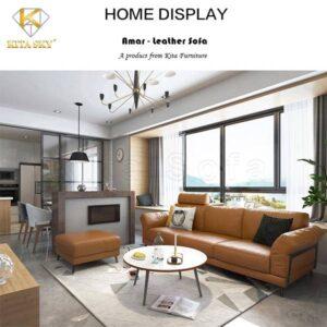 Bộ bàn ghế sofa da phòng khách Amar là mẫu ghế sofa băng nhỏ gọn. Được rất nhiều khách hàng lựa chọn tại Kita Sofa.