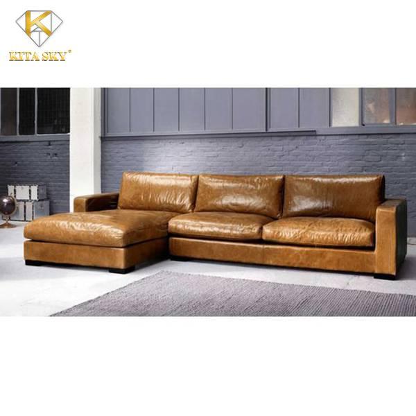 Sofa góc bọc da – Tăng phần đẳng cấp cho không gian sống!