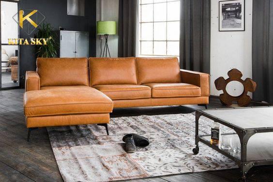 Sofa da công nghiệp Ethan