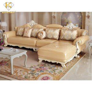 Mẫu bàn ghế sofa da cao cấp Cognac từ Kita Sofa