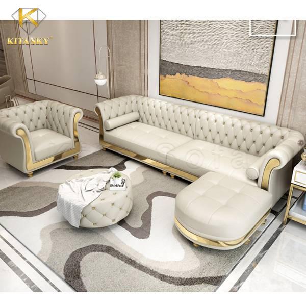 Bàn ghế sofa da Alula là một trong các sản phẩm nội thất phòng khách bán chạy nhất tại Kita