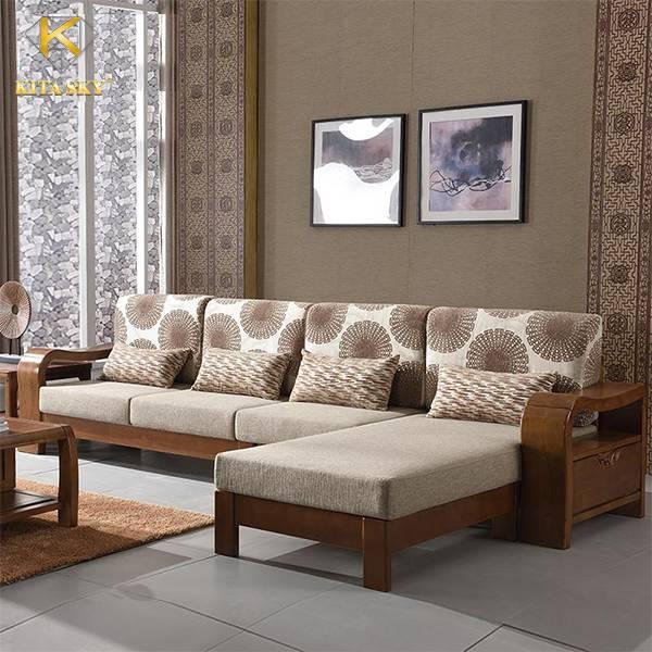 Sofa góc gỗ bạch dương Poplar