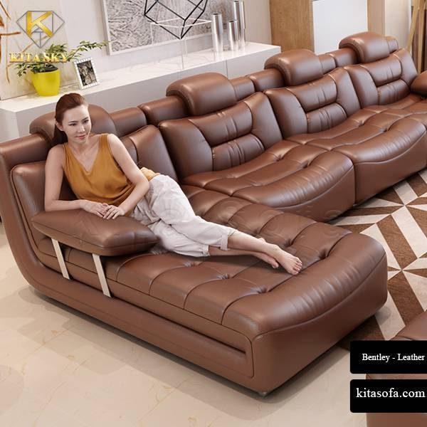 Bentley là mẫu ghế sofa da phòng khách cao cấp được rất nhiều khách hàng yêu thích.