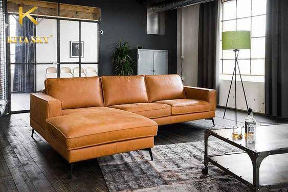 Sofa bọc da công nghiệp Ethan – Giá rẻ, đẳng cấp cho mọi không gian